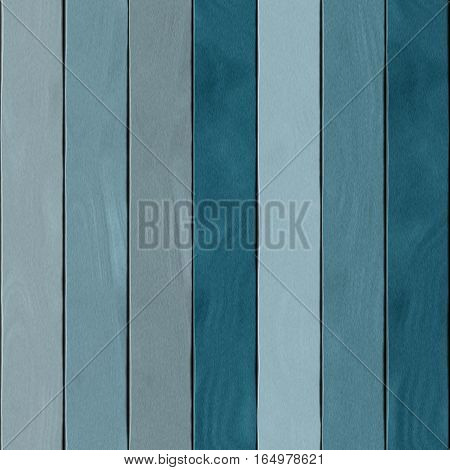 Shades of teal indigo blue color wooden planks