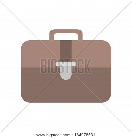 briefcase document business with strap vector illustration eps 10