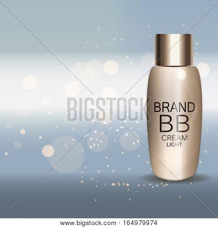 Skin Toner Bottle Template for Ads or Magazine Background. 3D Realistic Vector Iillustration. EPS10