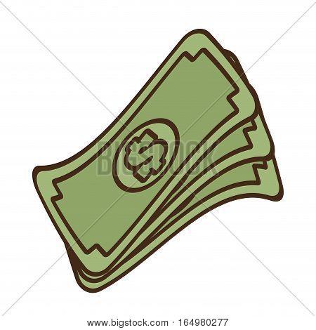 cartoon stack money dollar bills cash vector illustration eps 10
