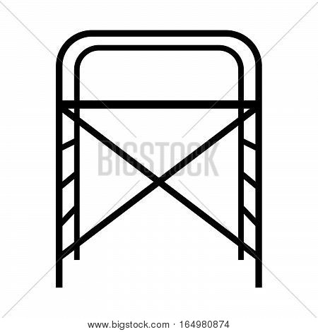 Scaffolding ( shade picture ) on white