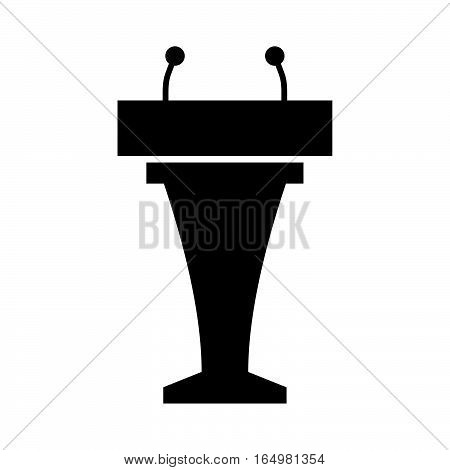 Podium tribune ( shade picture ) on white