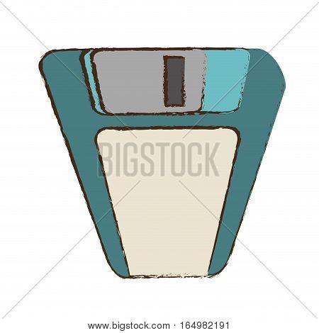 cartoon floppy disk storage information office vector illustration eps 10
