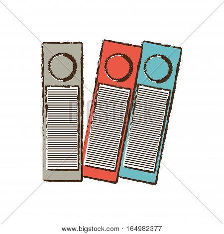 binders file folder office supplies sketch vector illustration eps 10