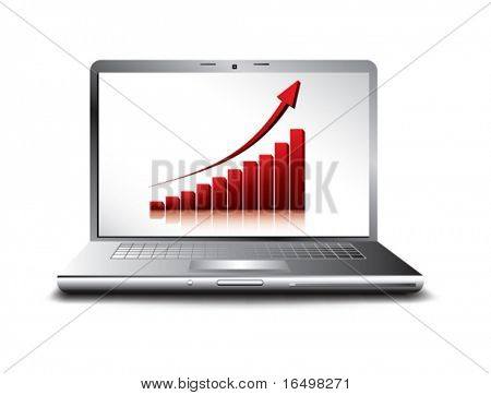 business concept of rising economy - vector illustration