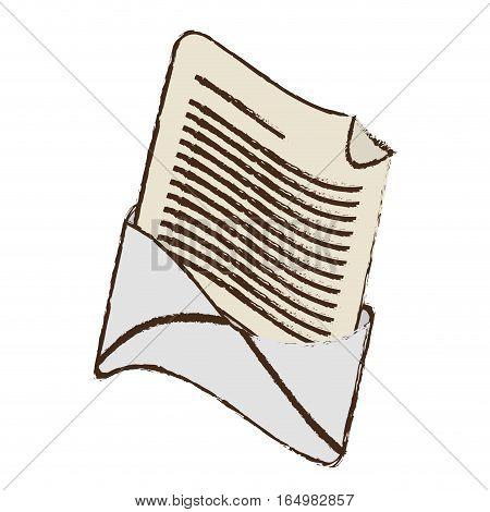 email envelope message letter sketch vector illustration eps 10