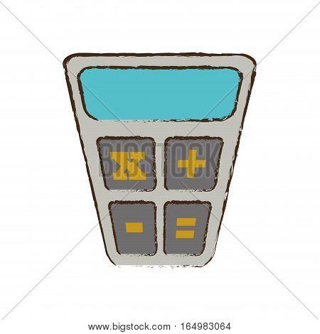 calculator finance object office sketch vector illustration eps 10
