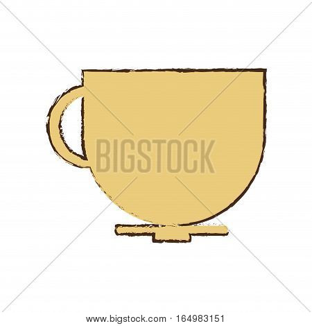 cup coffee tea chocolate hot sketch vector illustration eps 10