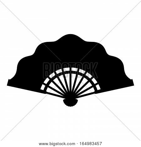 Folding fan ( shade picture ) on white