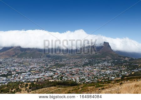 The View Of Table Mountain At  Signal Hill