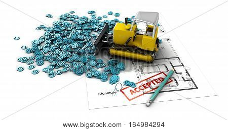 Plan Creation Process Concept Web 3D Illustration.
