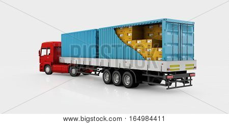 World Wide Cargo Transport Concept. 3D Illustration