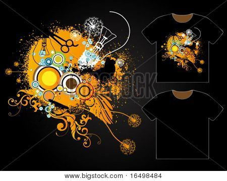 Grungy T-shirt Design - Vector Templates