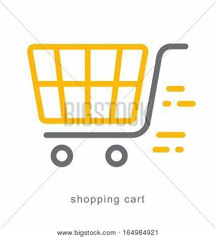 Thin line icons Linear symbols shopping cart