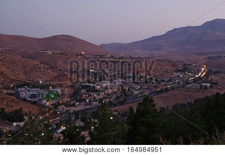 View of the Shiraz city from the surrounding hills. Iran