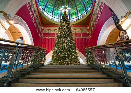 Christmas Tree At Queen Victoria Building