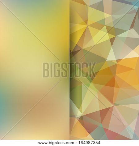 Abstract Background Consisting Of Beige Triangles. Geometric Design For Business Presentations Or We