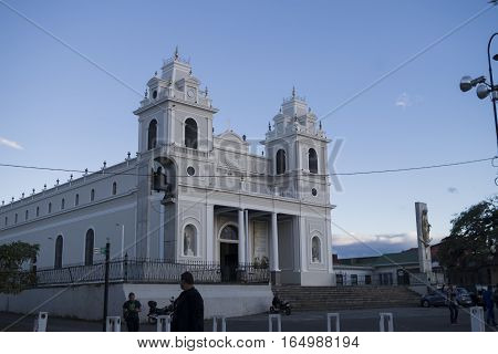 SAN JOSE, COSTA RICA - January 12: Church of Our Lady of Solitude in China town in San Jose Downtown. January 12, 2017, San Jose.