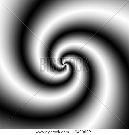 Illustration Of Black And White Spirals Rotating. Black And White