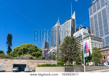 Sydney Conservatorium Of Music And Sydney Cbd Skyline