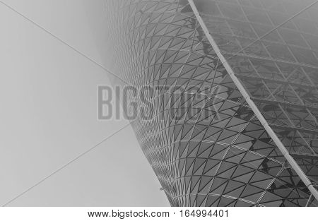 Facade Detail of the Capital Gate Tower in Abu Dhabi