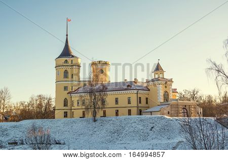 Fortress Mariental (BIP) was built in 1797 in St. Petersburg suburbs Pavlovsk for Russian Emperor Paul. The architect Brenna. Russia, Pavlovsk. January 4, 2017