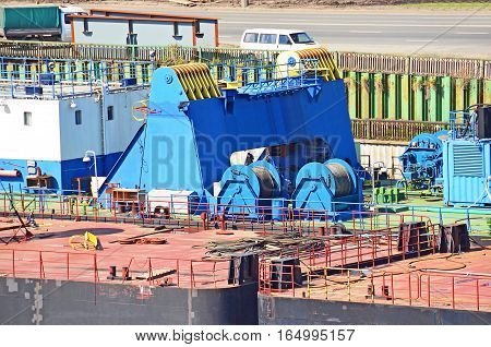 Cable Winch Of  Floating Crane