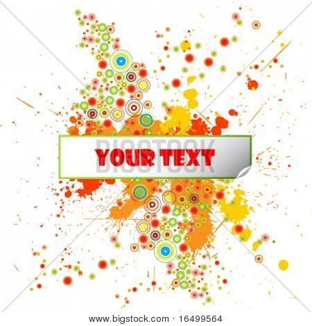 Grunge Design Template with Paint Splatters