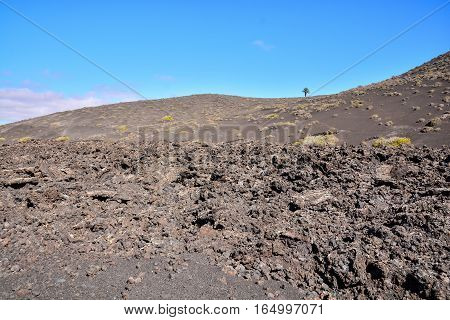 Volcanic Landscapes On Timanfaya.