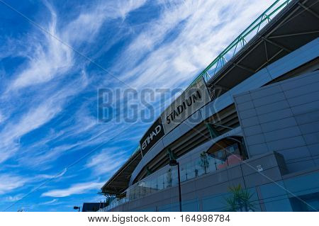 Etihad Stadium In The Docklands, Melbourne.