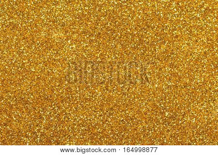 Golden glitter texture used for christmas background