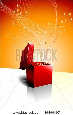 Festive Gift Box Opening - Vector Design