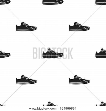 Gumshoes icon in  black style isolated on white background. Shoes pattern vector illustration.