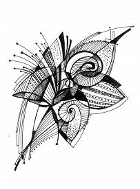 Flower - Abstract Drawing
