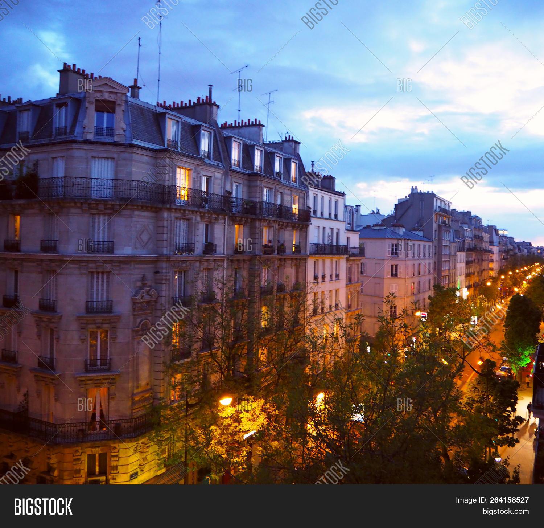 Paris Night City Image Photo Free Trial Bigstock