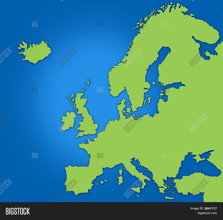 Basic Map Europe Image Photo Free Trial Bigstock