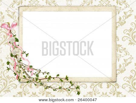flowering branch on damask