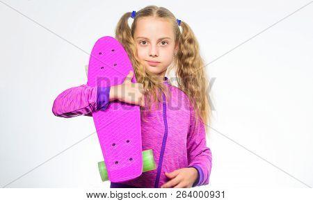 Plastic Skateboards For Everyday Skater. Child Hold Penny Board. Penny Board Of Her Dream. Choose Sk