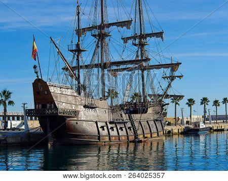 Famous Traditional Spanish Galleon 16-18th. Century Historical Armada Ship  Alicante Costa Blanca Sp