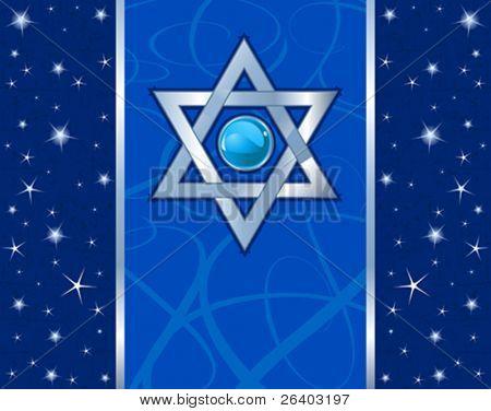 Star of David (Magen David) Holiday design