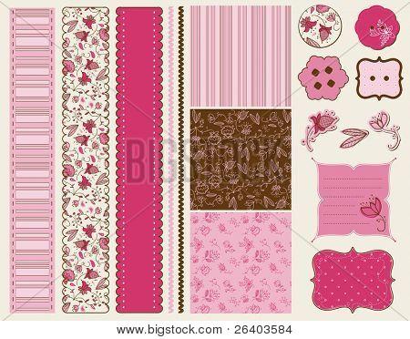 Scrapbook Flower Set