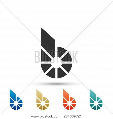 Cryptocurrency Coin Bitshares Bts Icon Isolated On White Background. Physical Bit Coin. Digital Curr
