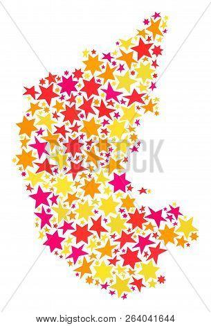 Map Karnataka State Vector & Photo (Free Trial) | Bigstock on