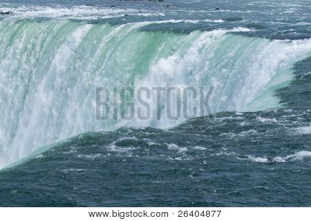Niagara Falls Close Up of millions of gallons of foaming raging water