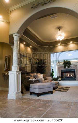 Contemporary home interior design lifestyle