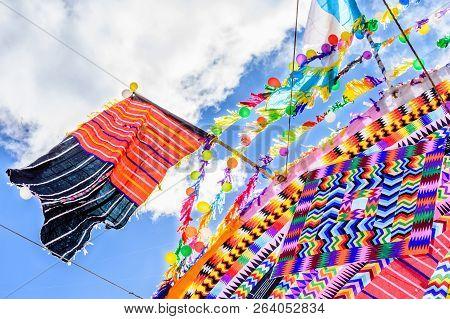 Santiago Sacatepequez, Guatemala - November 1, 2017: Closeup Of Giant Kite During Giant Kite Festiva