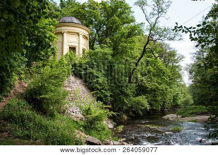 The Temple Of Friendship In The Romantic Area At The Castle Built By Lichtenstein In 1820 Near Litov