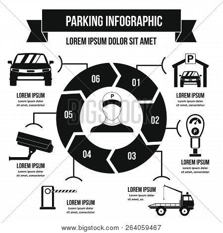 Parking Service Infographic Banner Concept. Simple Illustration Of Parking Service Infographic Poste