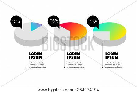 Set Of Circle Percentage Diagrams For Infographics