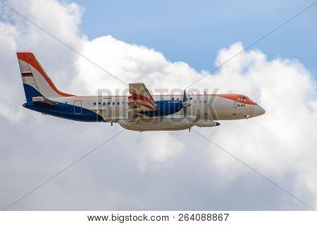 Zhukovsky, Russia - August 28, 2015: Ilyushin Il-114 In Flight